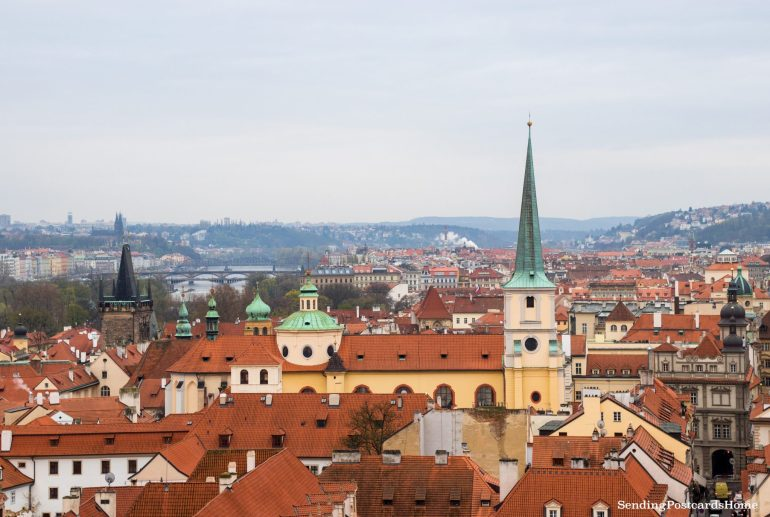 Top View Prague Orange Roof 4