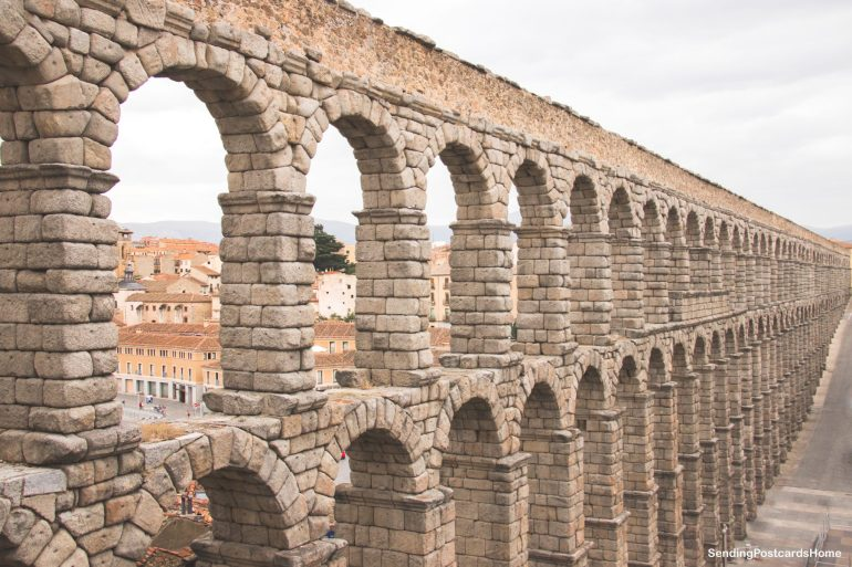 Day trip from Madrid to Segovia, a medieval city, Madrid, Spain - Aqueduct 1