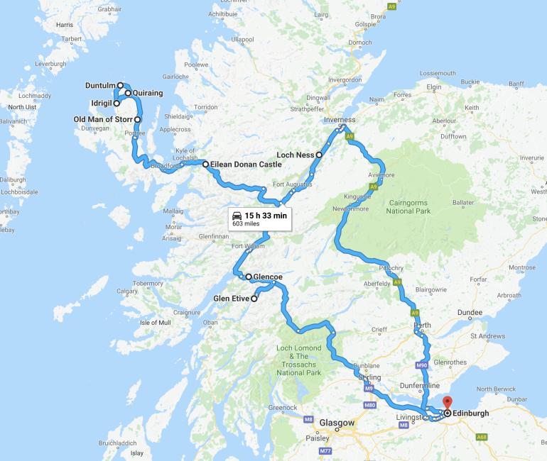 Ultimate road trip in Scotland Highlands