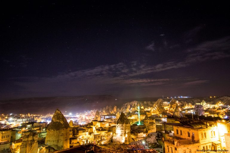 Planning a trip to Cappadocia in winter & Things to do - Goreme at night, Cappadocia, Turkey