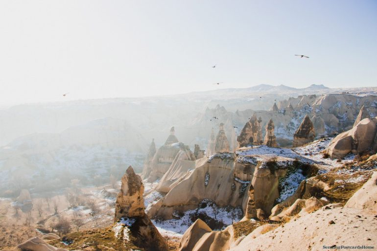 Planning a trip to Cappadocia in winter & Things to do - Goreme view point, Cappadocia, Turkey