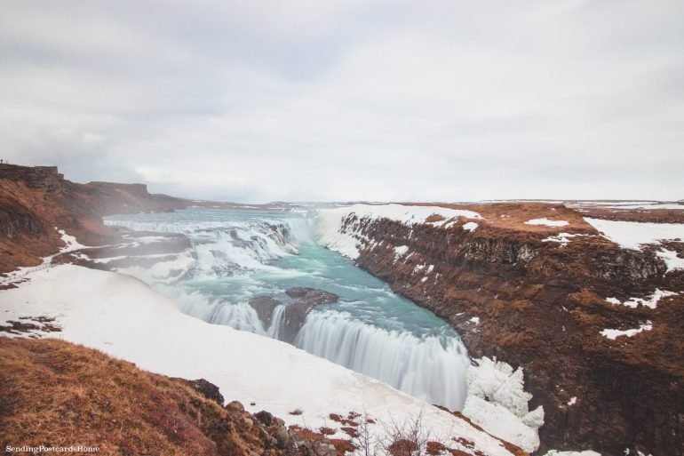 Itinerary for winter / spring road trip in Iceland - Gullfoss Waterfall