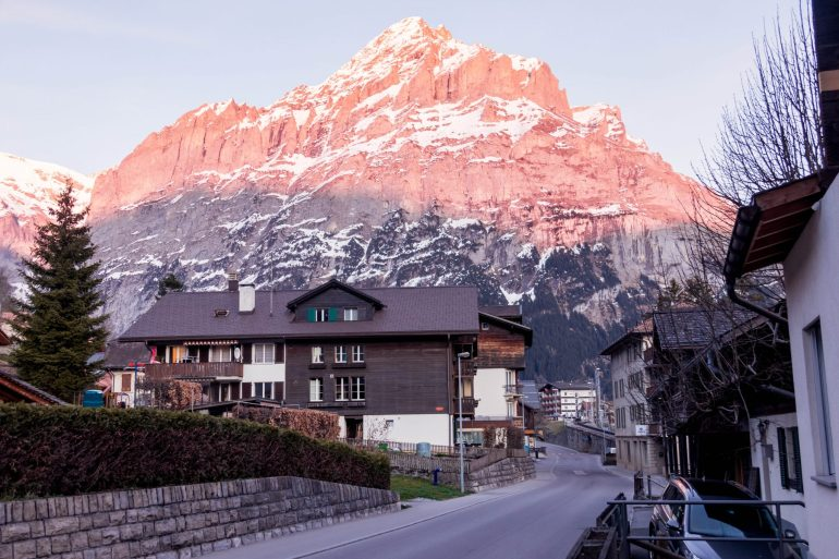 Grindelwald during sunset, 3 amazing days in Interlaken, Switzerland 1