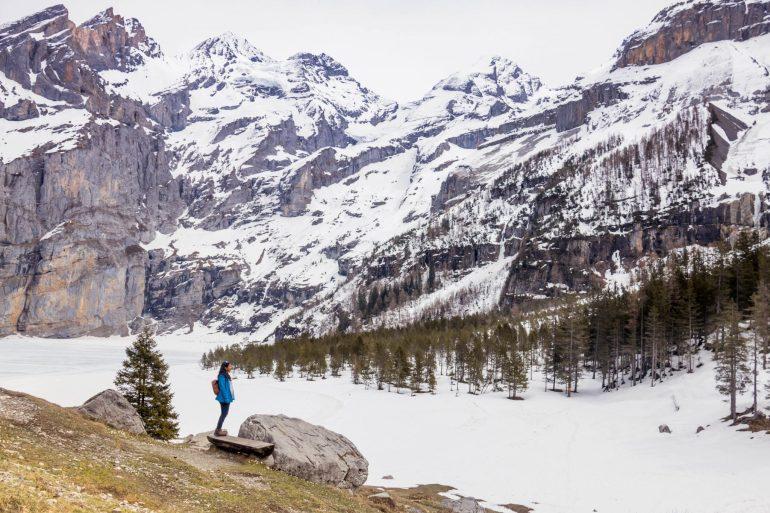 Lake Oeschinensee in April, 3 amazing days in Interlaken Switzerland 1