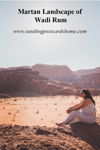 Martian Landscape of Wadi Rum Desert, Jordan