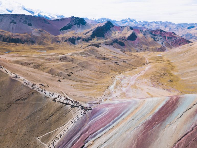 Rainbow Mountain from Drone 4