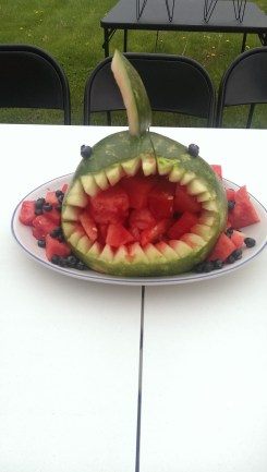 Then a wild watermelon shark appeared!