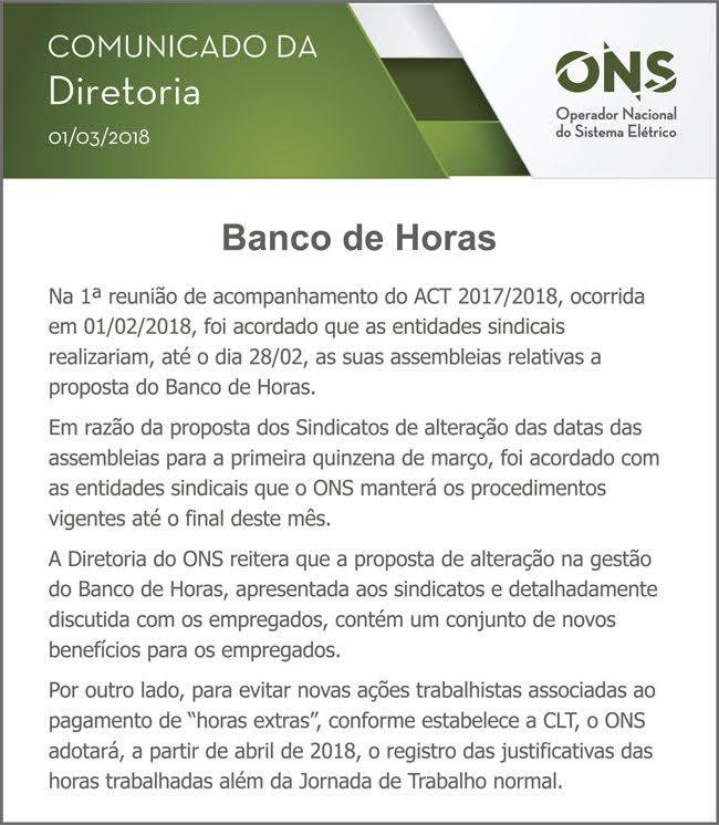 ONS COMUNICADO BANCO DE HORAS 2