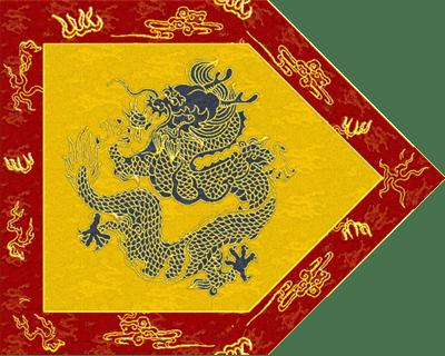 入関前の旗王と八旗