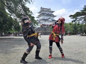 小田原城の甲冑体験