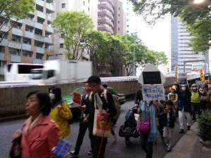 デモはさまざまな人々が参加していた