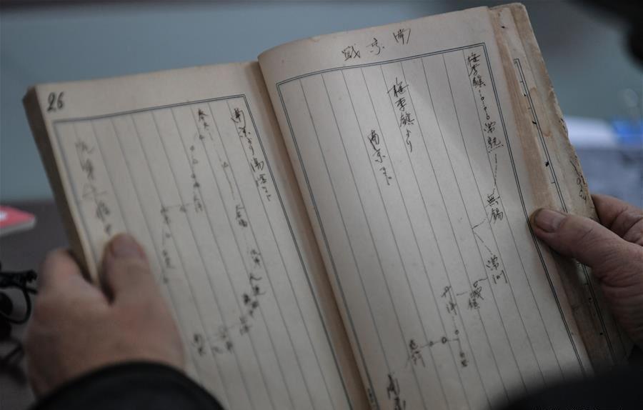 日本軍兵士の日記には進軍ルートが記されている 人民網より