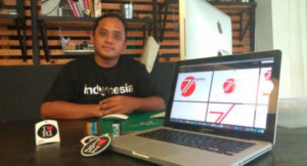Adityayoga memamerkan karyanya, Logo HUT Ke-71 Republik Indonesia / jawapos