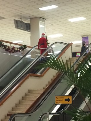 While in the Katunayake Airport I saw Santa catching a flight as well.