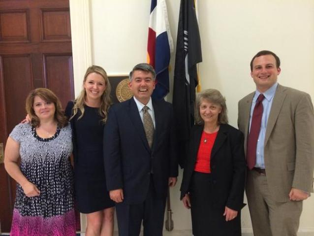 Representative Cory Gardner after meeting with We For For Health