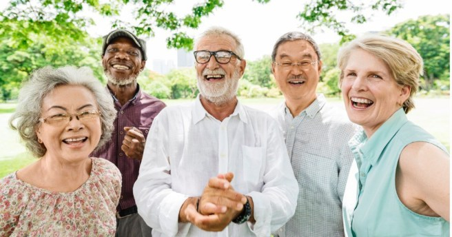 Senior citizens enjoying life