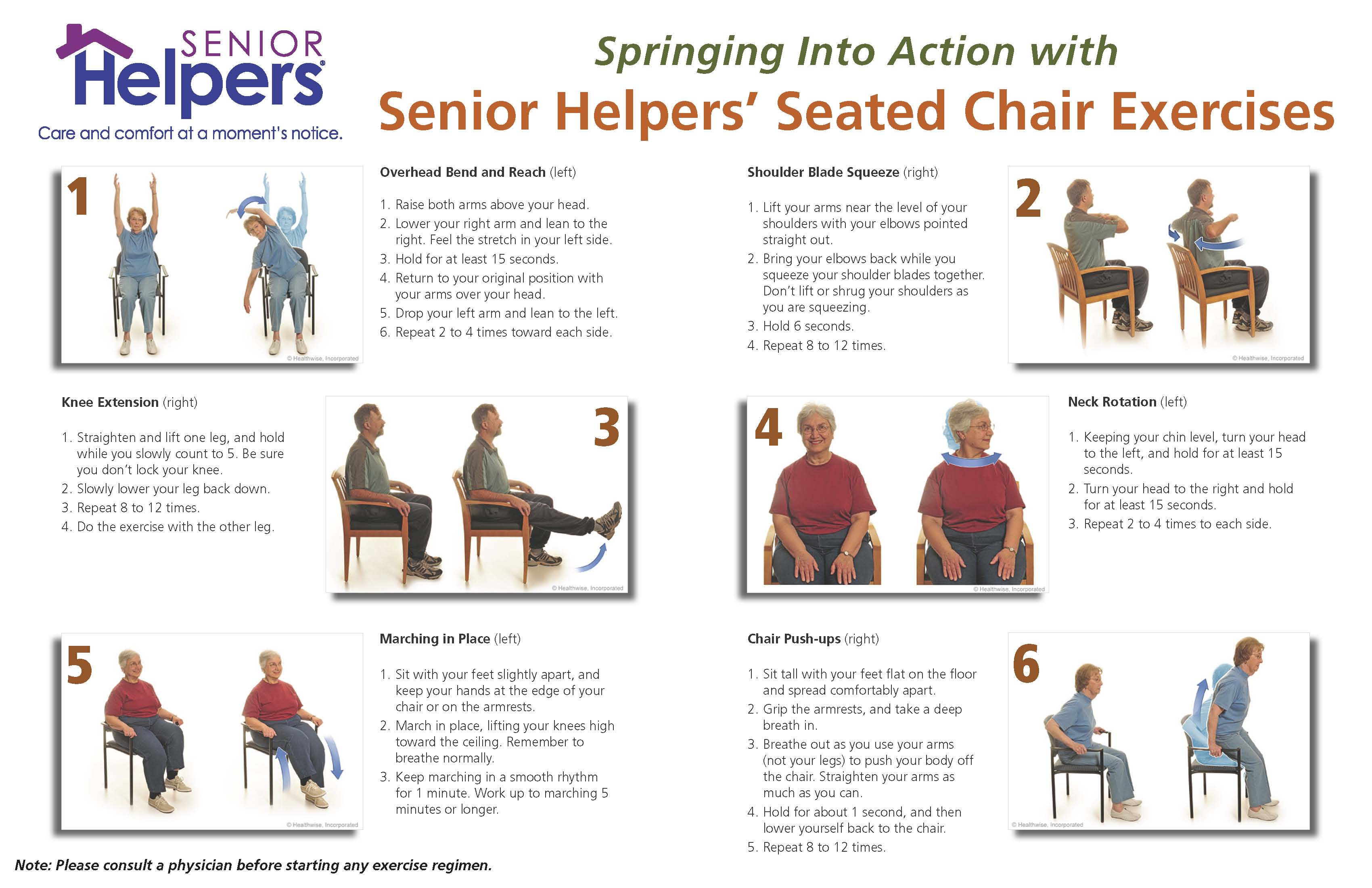 Spring Into Action With Seated Chair Excercises