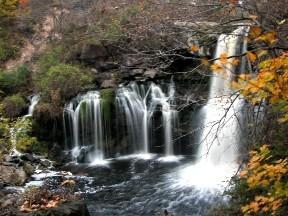 Lower Akron Falls, Akron, New York.  October 24, 2008.