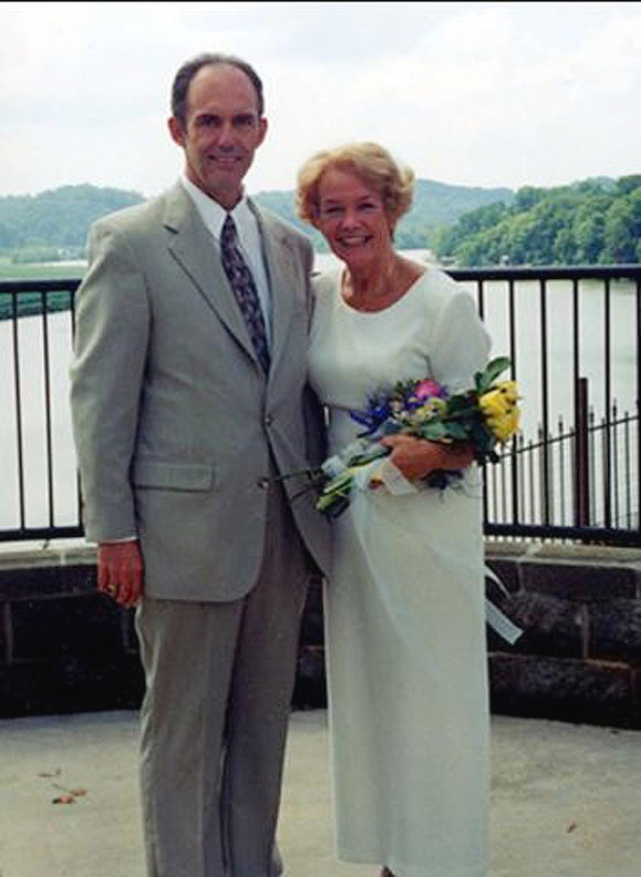 The bride and groom, Knoxville, Tennessee.  June 23, 2001.