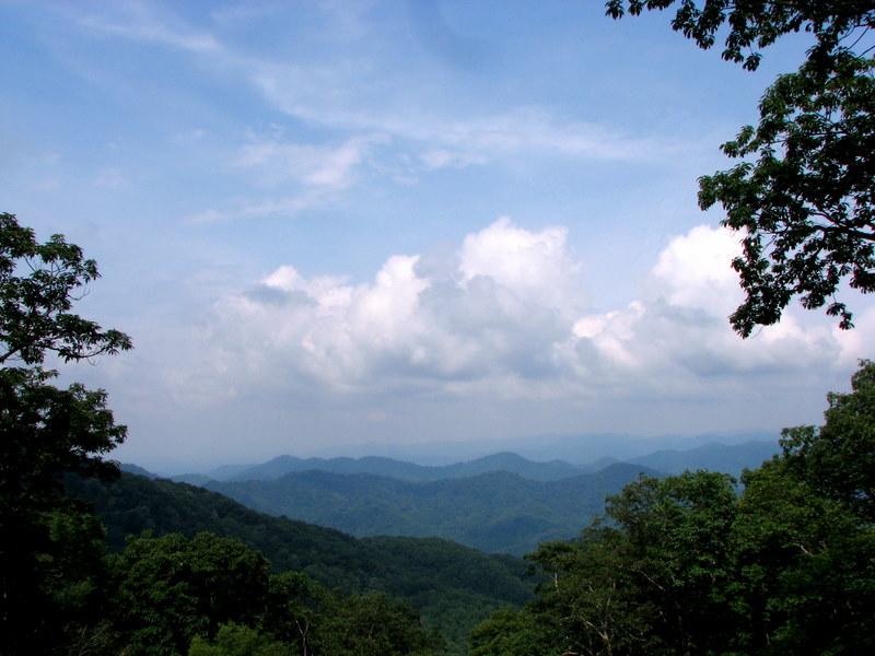 Western North Carolina mountains and sky.  July 11, 2009.