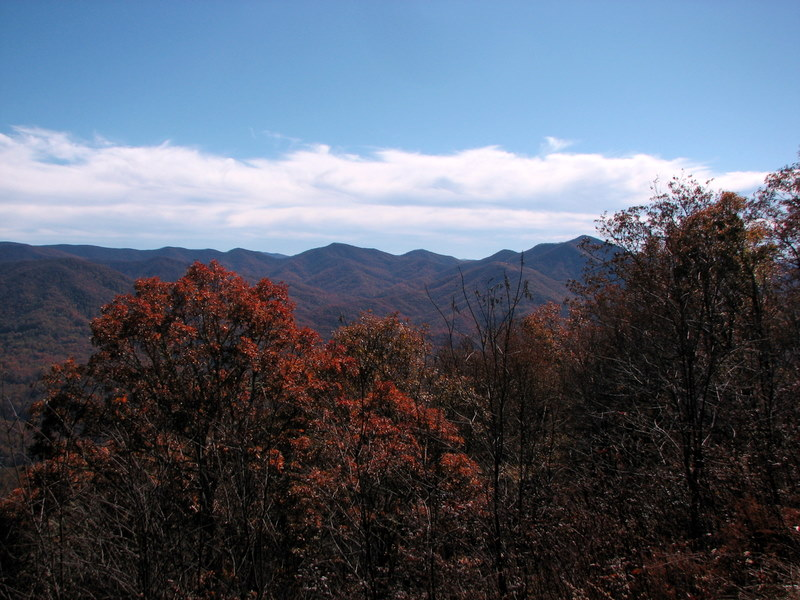 The view from the Blue Ridge Parkway near Maggie Valley, North Carolina.  October 25, 2009.