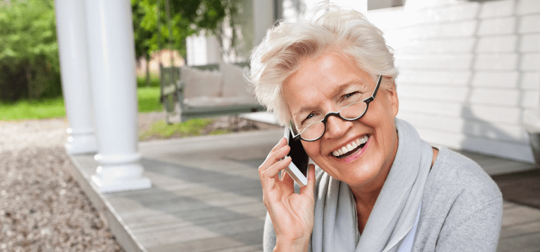 Seniors say phone calls are preferred for long conversations. Texting is good for short spurts.