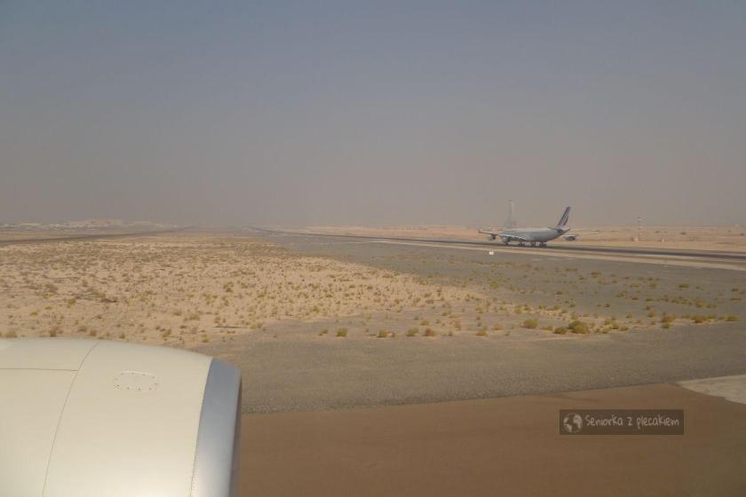 Kolejka do startu na lotnisku w Abu Dhabi