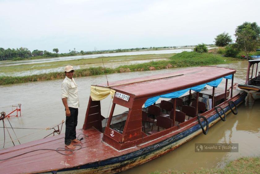 Wypływamy na jezioro Tonle Sap
