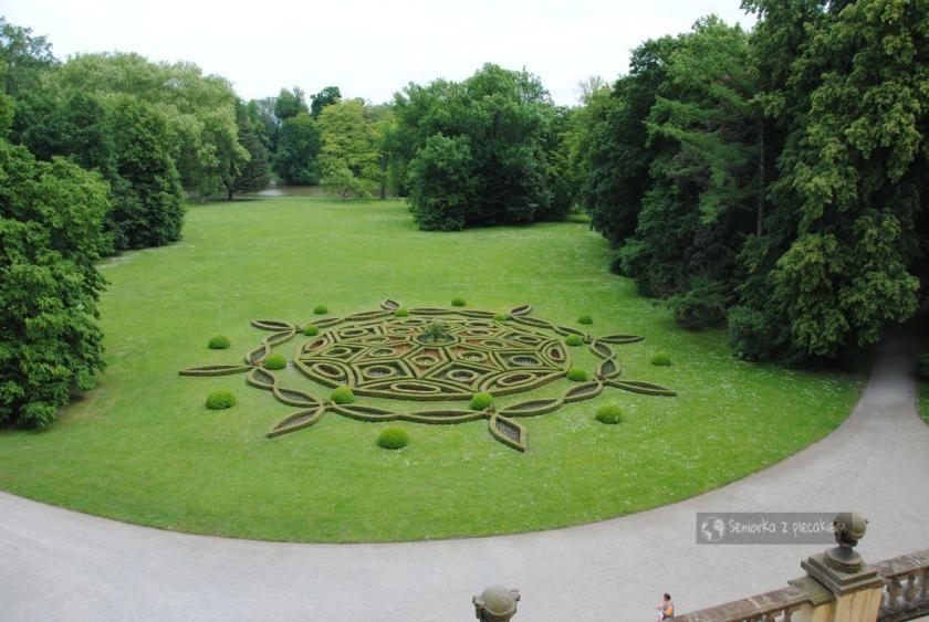 Widok z tarasu na Ogród Pałacowy w Kromeriż