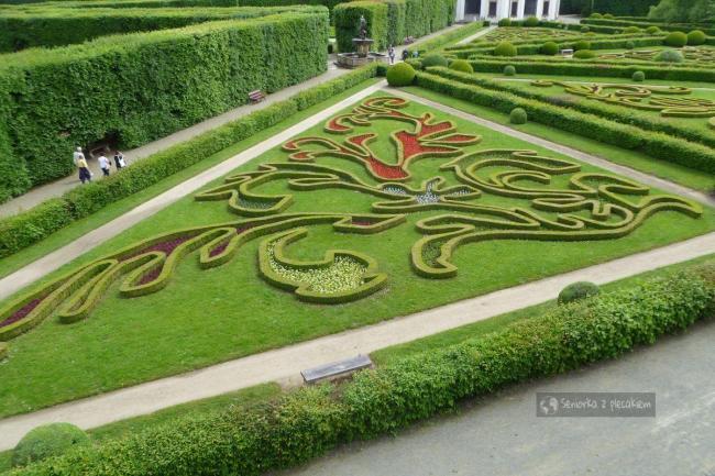 widok na Ogród Kwiatowy w Kromieryż