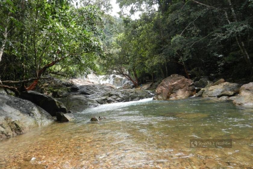 Wodospad na Ko Chang w Tajlandii