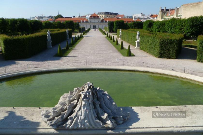Widok na Dolny Belweder w Wiedniu