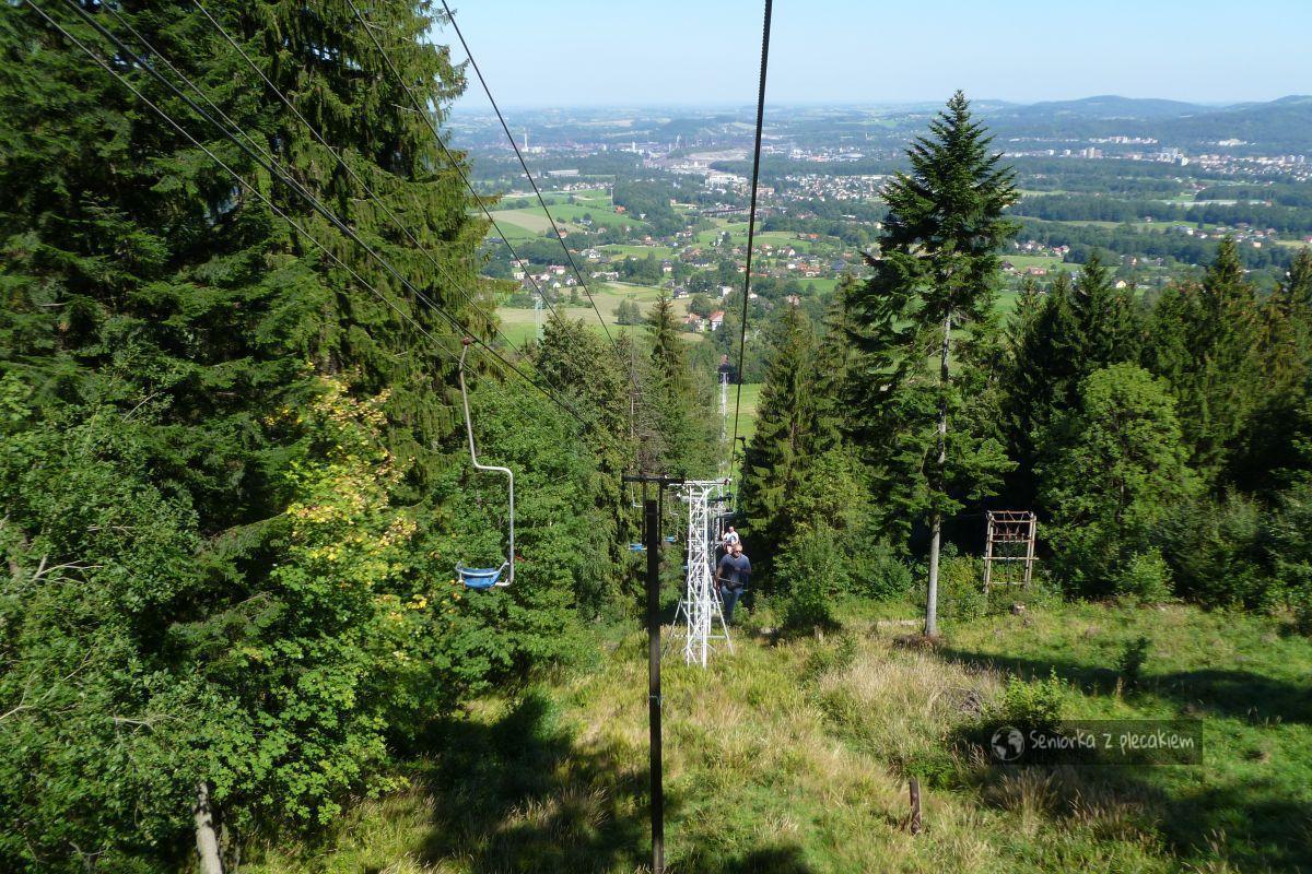 Kolejką i pieszo do schroniska Chata Javorovy. Beskid Śląsko – Morawski