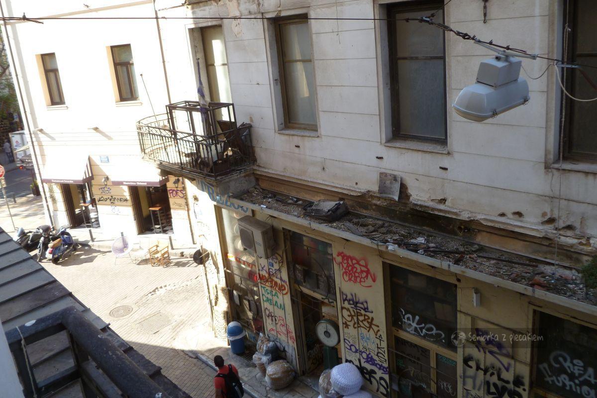 Ateny widok z hotelu