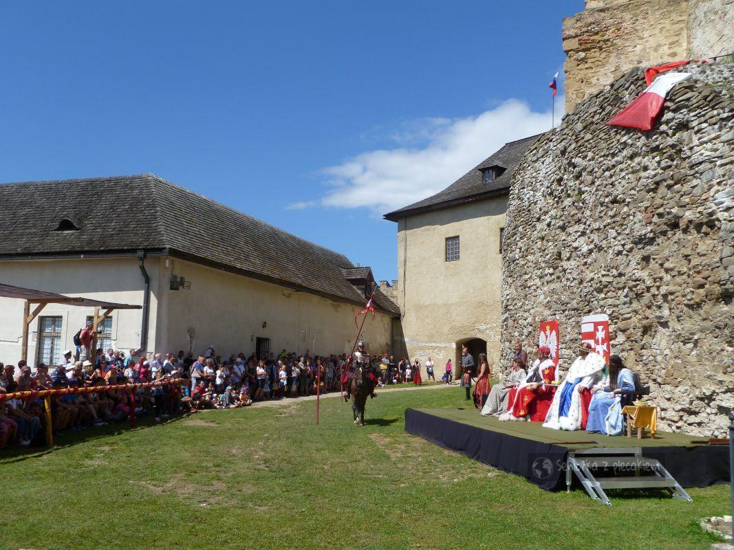Król Polski na zamku Lubowla