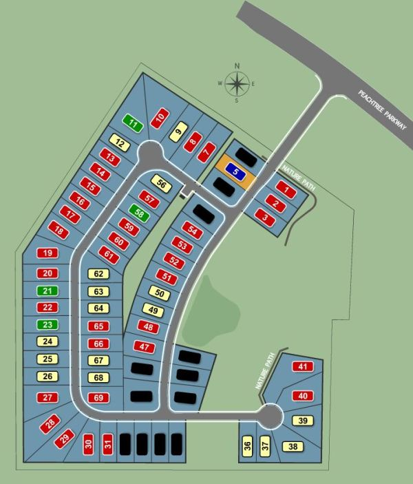 Park Meadows Suwanee GA Site Map