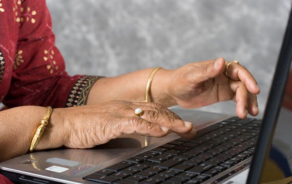 Senior-woman-connecting-digitally
