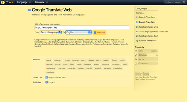 Translate russian to english website