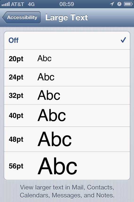 Fonts for tablets