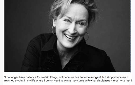 Delirium, meryl streep loves sex let's