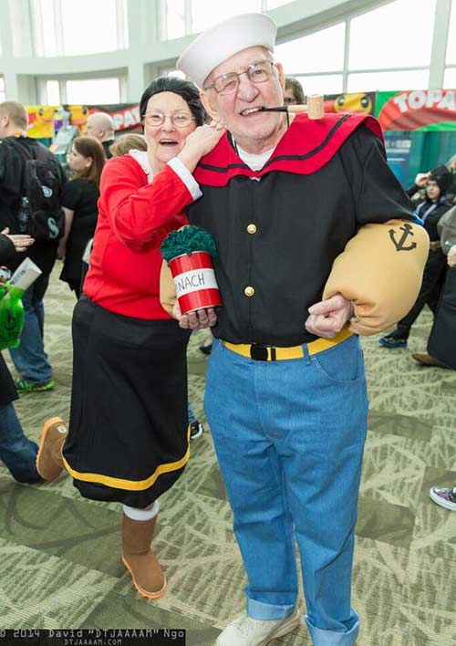 18 diy costumes that dont involve partial nudity senior planet halloween popeye and olive oyl solutioingenieria Choice Image