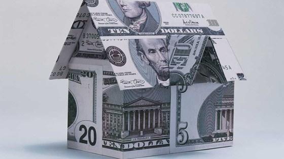 Model home made of money