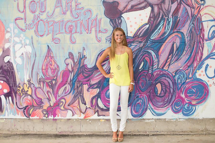 graffiti wall downtown austin texas senior pictures