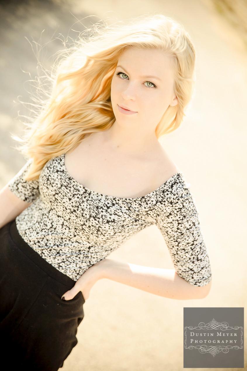 stunning senior portraits austin with a female high school senior blonde