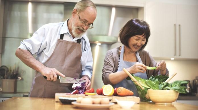 senior cooking