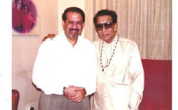 Vickram Sethi and Balasaheb at Matoshri