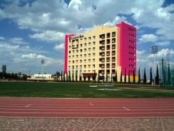 hotel in field