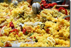 Paella cooked