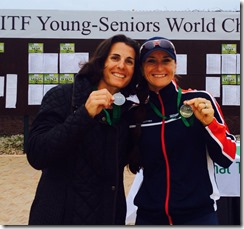 Dominique Levin and Katerina Stanford with medals