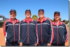 Men's 60s, Von Cramm Cup, Chris Bennett, Paul Wulf, Tom Smith and Bill Ashley